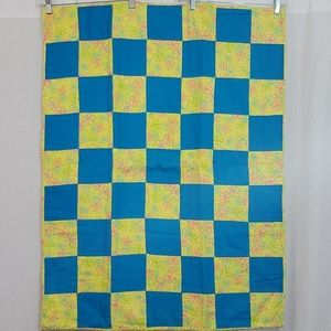 Blue & Yellow Baby Quilt
